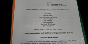 12 October 2016 - Urban regeneration as a tool in creating sustainable Europe - 7507