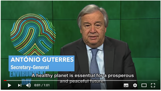António Guterres (UN Secretary-General) on World Environment Day 2018 (5 June)